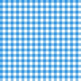 Gingham seamless pattern. Blue Italian tablecloth. Picnic tale c. Loth Stock Photography