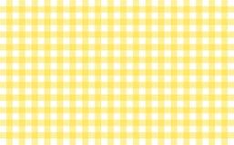 Gingham-som tabelltorkduken med bananguling- och vitkontroller stock illustrationer
