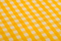 gingham tła żółty Zdjęcie Royalty Free