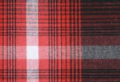 Gingham tablecloth tekstury tło Fotografia Royalty Free