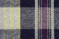 Gingham tablecloth texture background. Close up of gingham tablecloth fabric texture background Royalty Free Stock Photos