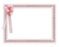 Gingham und rosafarbener Rand der Gänseblümchenfarbbänder Stockbilder