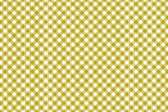 Gingham yellow pattern. Texture from rhombus/squares for - plaid, tablecloths, clothes, shirts, dresses, paper and other textile. Products royalty free illustration