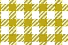 Gingham yellow pattern. Texture from rhombus/squares for - plaid, tablecloths, clothes, shirts, dresses, paper and other textile stock illustration