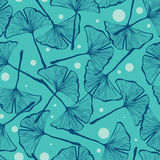 Gingko biloba seamless vector background pattern Stock Photography