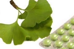Gingko Pills Royalty Free Stock Photo