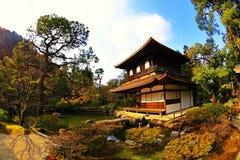ginkaku日本ji亭子银寺庙 免版税图库摄影