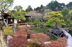 Ginkaku -ginkaku-ji (Tempel van Zilveren Paviljoen) in Japan Royalty-vrije Stock Afbeelding