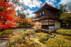 Ginkaku-ji, o templo do pavilhão de prata Imagens de Stock Royalty Free