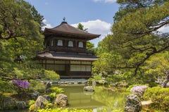 Ginkaku-ji Silver Pavilion during the summer season in Kyoto, Ja Royalty Free Stock Images