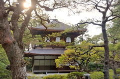 Ginkaku-ji Silver Pavilion temple Royalty Free Stock Photo