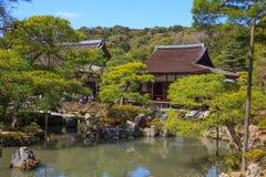 Ginkaku-ji tempel av silverpaviljongen Royaltyfri Bild
