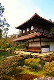 Ginkaku-ji (tempiale del padiglione d'argento) nel Giappone Fotografia Stock Libera da Diritti