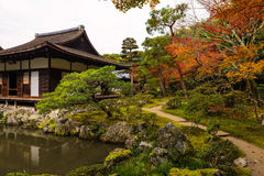 Ginkaku-ji temple at autumn, Kyoto Royalty Free Stock Photos