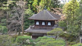 Ginkaku-ji temple at Kyoto city in Japan.  stock footage