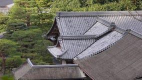 Ginkaku-ji temple at Kyoto city in Japan. Roof top of Ginkaku-ji temple at Kyoto city in Japan stock video
