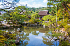 Ginkaku-ji, a temple in Kyoto, Japan. Ginkaku-ji, a Zen temple called Silver Pavilion in Kyoto, Japan Royalty Free Stock Photography