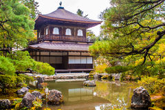 Ginkaku-ji, a temple in Kyoto, Japan. Ginkaku-ji, a Zen temple called Silver Pavilion in Kyoto, Japan Royalty Free Stock Image