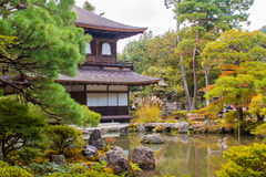 Ginkaku-ji, a temple in Kyoto, Japan. Royalty Free Stock Images