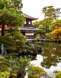 Ginkaku-ji, the Temple of the Silver Pavilion in Kyoto royalty free stock photos