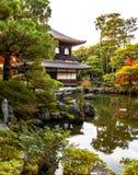 Ginkaku-ji templet av silverpaviljongen i Kyoto Royaltyfria Foton
