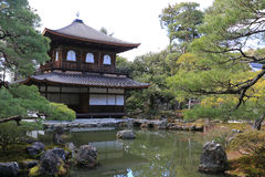 Ginkaku-ji   Templo do pavilhão de prata Fotos de Stock