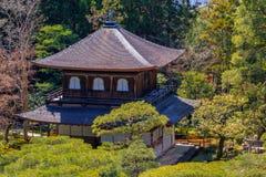 Ginkaku-ji, templo do pavilhão de prata Foto de Stock Royalty Free
