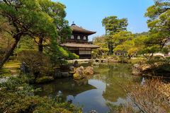Ginkakuji寺庙在日本 免版税库存图片