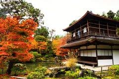 Ginkakuji świątynia przy jesienią, Kyoto fotografia royalty free