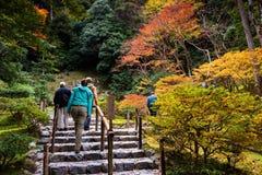 Ginkakuji jesieni świątynny piękny ogród zdjęcia stock