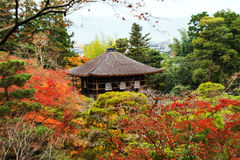 Ginkakuji or silver Pavilion by top view, Kyoto Royalty Free Stock Photo