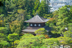 Ginkakuji (Silver Pavilion) is a Zen temple along Kyoto's easter Stock Photography