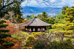 Ginkakuji (Silver Pavilion) is a Zen temple along Kyoto's easter Royalty Free Stock Image