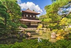 Ginkakuji Silver Pavilion - Zen temple along Kyoto`s eastern mountains Royalty Free Stock Image