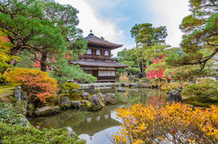 Ginkakuji Silver (The Silver Pavilion) Royalty Free Stock Photography