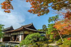 Ginkakuji Silver (The Silver Pavilion) Royalty Free Stock Photos