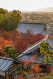 Ginkakuji Silver (The Silver Pavilion) in autumn Royalty Free Stock Image