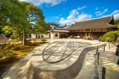 Ginkakuji (Srebny pawilon), Kyoto, Japonia Obraz Stock