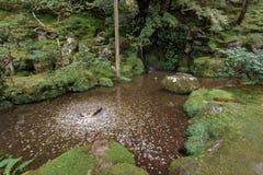 Ginkakuji srebra pawilon w Kyoto, Japonia zdjęcia royalty free