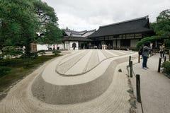 Ginkakuji tempel, Kyoto, Japan Arkivbilder