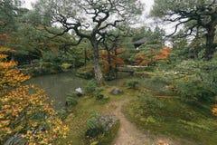 Ginkakuji tempel och trädgård Tokyo, Japan Royaltyfri Foto