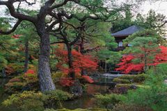 Ginkakuji temple in autumn, Kyoto, Kansai, Japan. stock photo