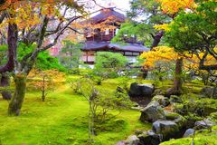 Ginkakuji Temple in autumn at Kyoto Royalty Free Stock Photo