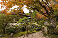 Ginkakuji temple at  autumn, Kyoto Royalty Free Stock Photo