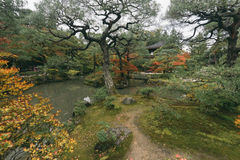 Ginkakuji Temple and Garden Tokyo, Japan. Royalty Free Stock Photo