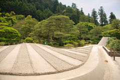 Ginkakuji Temple Gardens Stock Photography