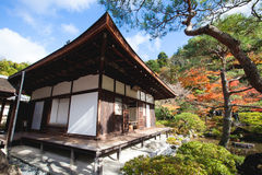 Ginkakuji temple in Kyoto city Royalty Free Stock Photo