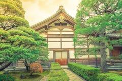 Ginkakuji Temple - Kyoto, Japan  ( Filtered image processed vint Stock Image