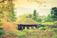 Ginkakuji Temple - Kyoto, Japan  ( Filtered image processed vint Royalty Free Stock Photo