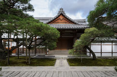 Ginkakuji Temple in Kyoto, Japan. The Kuri hall, priests` living quarters royalty free stock image